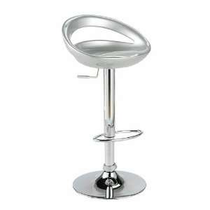 Alex Adjustable Swivel Stool by ItalModern (Silver