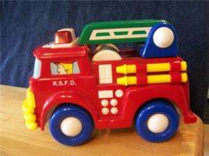 RADIO SHACK TOY FIRE ENGINE TRUCK NO RC TRANSMITTER
