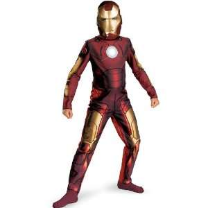 Iron Man 2008 Movie Child Costume Medium (7 8) Toys