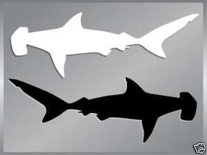 HAMMERHEAD SHARK Silhouette fishing cut vinyl decal