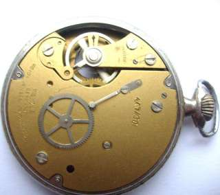 VINTAGE GERMAN POCKET MECHANICAL WATCH KIENZLE movement Parts repair