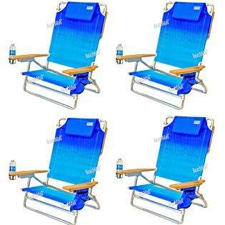 Folding Beach Chair   Extra Wide & Tall   4 chairs incl