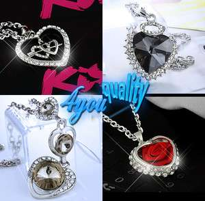 g2b fashion jewellery sparkly crystal heart necklace pendant