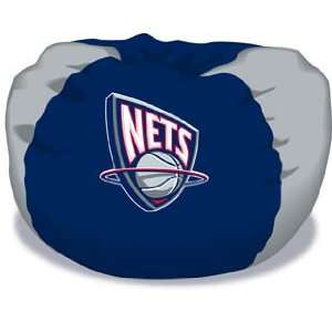 New Jersey Nets Team Beanbag Chair 32x32   NBA Basketball Sports Team