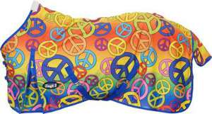 Horse Winter Blanket Turnout Peace Sign 84 Rainbow Tough 1 Tack NEW
