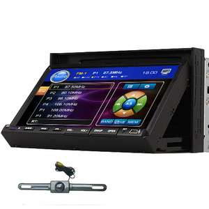 Din 7 In Dash Touch Screen Car Stereo DVD Player Radio IR+Camera