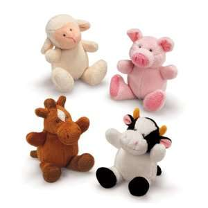 Russ Berrie Kids Tiny Squeeze n Sound Farm Animal (Set of