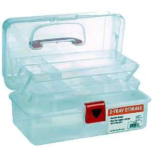 Artist Essential 12 inch Plastic Art Supply Craft Storage Tool Box