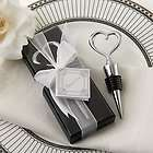 50 Chrome Heart Bottle Stopper in Gift Box Wedding / Bridal Shower