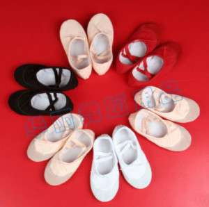 NEW Adult Canvas Ballet Dance Shoes Slippers 4 colors