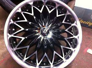 18x7.5 VELOCITY VW 835 MACHINED BLACK RIMS & TIRES