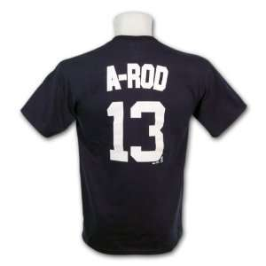 New York Yankees A Rod MLB Player Name & Number T Shirt