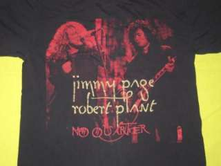 JIMMY PAGE ROBERT PLANT 1995 TOUR T SHIRT led zeppelin