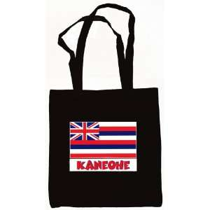 Kaneohe Hawaii Souvenir Canvas Tote Bag Black