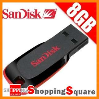New SanDisk Cruzer Blade 8GB USB Stick Flash Pen Drive 8G Memory Disk