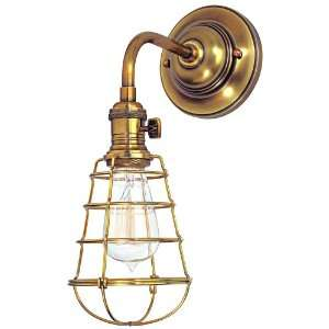 Heirloom Wire Guard Aged Brass Wall Sconce