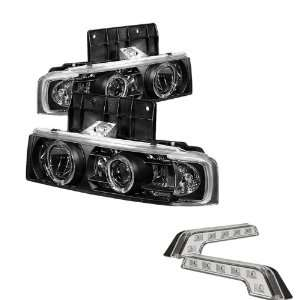 Carpart4u Chevy Astro / GMC Safari Halo Black Projector Headlights and