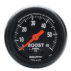 Auto Meter 2617 Z Series 2 0 60 PSI Mechanical Boost