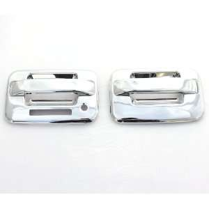 04 11 Ford F 150 (2 Doors) Chrome Door Handle Covers with keypad & w/o