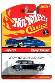 Hot Wheels Classics series 1 #16 Chevy Nomad black
