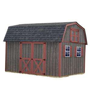 BarnsMeadowbrook 10 ft. x 12 ft. Wood Storage Shed Kit without Floor