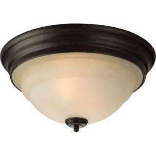 Progress Lighting Torino Collection Forged Bronze 2 Light Flushmount