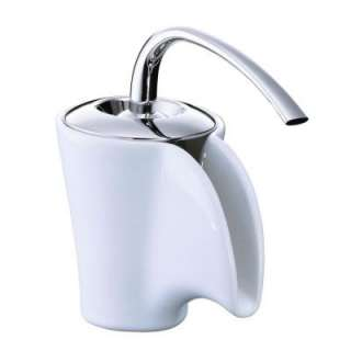 KOHLER Vas Single Hole 1 Handle Low Arc Ceramic Bathroom Faucet in
