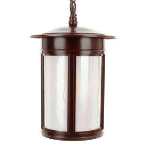Hampton Bay 3 Light 8.25 in. Hanging Lantern Oil Rubbed Bronze Finish