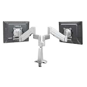 Chief KCY220S Height Adjustable Dual Arm Dual Monitor Desk Mount