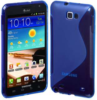 BLUE SLINE TPU CASE FOR SAMSUNG GALAXY NOTE AT&T LTE i717 817781010834