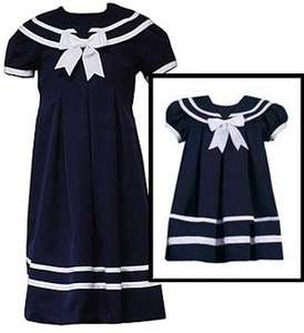 Sailor Dresses for Girls   Navy Sailor Dress   3 month to Size 8 Girls