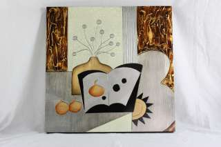 Wooden Wall Decor Modern Abstract Painting Art Picture