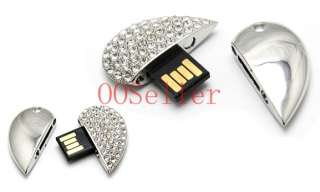 Cute Crystal Heart Usb Pen Flash Drive Flash Memory 8GB