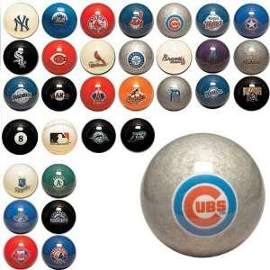 Chicago Cubs MLB Billiard Balls