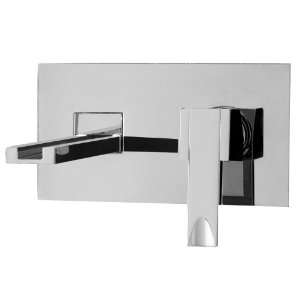 Aquabrass 77329PC Polished Chrome Streem Single Handle Wall Mounted