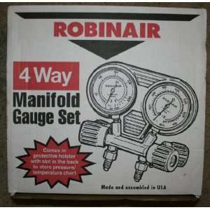 Robinair 4 Way Manifold Gauge Set 41400