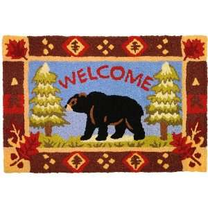 Jellybean Bear & Pine Trees Indoor Outdoor Accent Rug