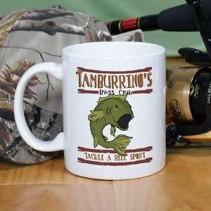 Bass Club Fishing Personalized Coffee Mug Kitchen