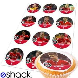 12x Liverpool Team (EPL) Edible Cake Toppers (Birthday