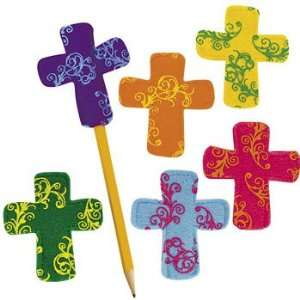 Cross Pencil Toppers   Basic School Supplies & Erasers & Pencil