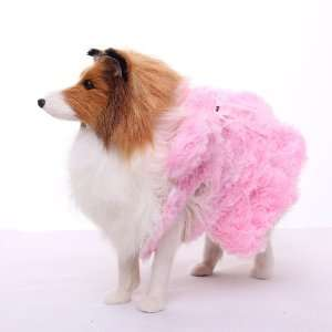 Soft Pink Pet Dog Winter Coat Jacket Clothes Apparel   L