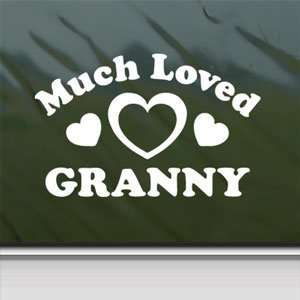 Much Loved Granny White Sticker Car Vinyl Window Laptop
