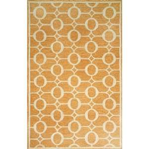Indoor/Outdoor Hand Tufted Area Rug Arabesque 2 x 8 Orange Carpet