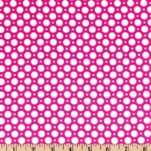 Wide Luna Polka Dot Hot Pink Fabric By The Yard Arts, Crafts & Sewing