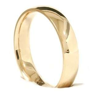 Gold 4MM Mens Womens Plain Polished Wedding Ring Band 4 12 Jewelry