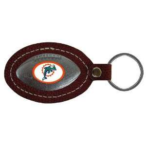 Miami Dolphins NFL Football Key Tag (Leather)  Sports