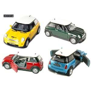 Mini Cooper S 128 Scale (Blue/Green/Red/Yellow) Toys & Games