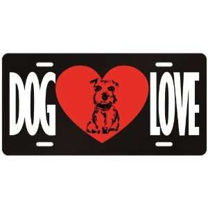 New  Love Miniature Schnauzer  License Plate Dog