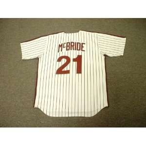 Phillies 1980 Majestic Cooperstown Throwback Home Baseball Jersey