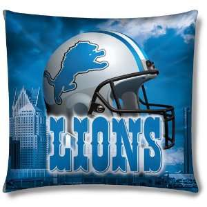 Detroit Lions NFL Photo Real Toss Pillow (18x18) Sports